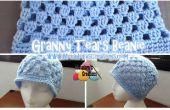 Granny larmes Beanie - crochet patron gratuit & tutoriels vidéo