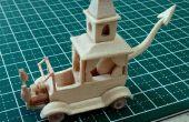 Wacky Races n ° 2 - Creepy coupé Popsicle Stick modèle mini