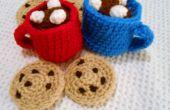 Cozy bonneterie tasse de chocolat chaud
