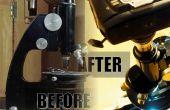 Faire revivre un vieux microscope : un nettoyage correct, nouvelle source lumineuse (avec du contreplaqué) et adaptateur pour appareil photo