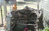 Faire un poulet coop de ferme ordure
