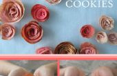 Roses aux amandes Tuile Cookie