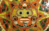 Vitrail mosaïque de calendrier aztèque