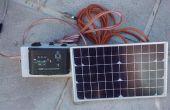 L'énergie solaire batterie 12V petite plate-forme de chargement pour une caravane ou du camping-car