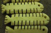 Sculpté de poisson osseux de Scraps d'OS