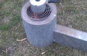Rocket stove déchets de fabrication 40 minutes.