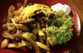 Carne Asada frites et petit déjeuner Californie Burrito