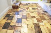 Création d'un plancher de bois de palettes bricolage avec du bois gratuit