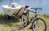 Remorquer un bateau avec un vélo