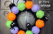 Araignée Poms & boules festives de couronne de fil