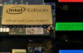 Enregistreur de température Edison Intel avec RBG-LCD