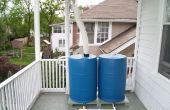 Élevées de système de collecte des eaux de pluie double corps