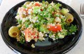 Simple Cool Summer Quinoa et Kale « Salade de taboulé »-végétaliens, sans gluten
