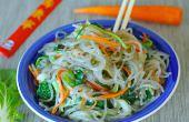 Légumes sautés en verre nouilles - GF et sain