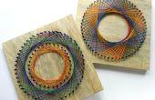 Rainbow bricolage Spirograph String Art