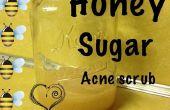 L'acné miel gommage du visage