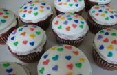 Cupcakes coeur velours rouge