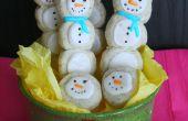 Bonhomme de neige Cookie pop