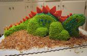Gâteau d'anniversaire dinosaure 3D