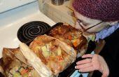 Poulet dans un sac - cuisson en Papillote