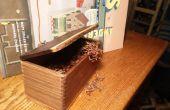 Tabac (ou autre chose) boite en bois