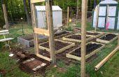 Clôture de jardin de petite échelle avec lits surélevés