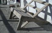 Récupérés bois, chaise de jardin paresseux