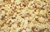 Kettle Corn Popcorn dans une casserole.