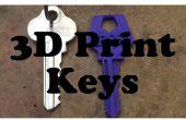 Comment à la 3D Print House clés (plus facile)