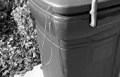 Paracord ordures peut couvercle d'attache