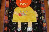 Robot Halloween matelassé Tenture murale