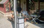Fusée poêle masse chauffage avec carreaux de Pierre de savon