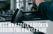Réparation d'un cassé Carbonfiber Bikeframe
