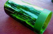 Faux gravé à l'eau-forte verre vin bouteille Vase/Votive titulaire