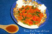 Vinaigre de Fruit de la passion (From Scratch) avec carotte poivron salade