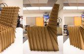Chaise en carton Lasercut
