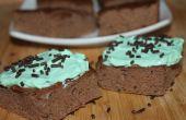 Brownies au chocolat menthe