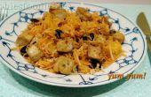 Végétalien sans Gluten salade de saison avec le radis noir & tofu !