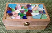 Boîte à bijoux mosaïque verre mer