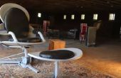 Chaise Eames-Style issus des antennes paraboliques