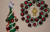 Décorations de Noël à l'aide des tasses à café