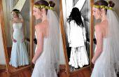 Creepy fille en effet miroir dans Photoshop