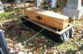 Cercueil/cercueil abaissement dispositif Stand