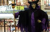 Robe costume maleficent, personnel et masque