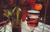 Bouteille de vin de torche Tiki