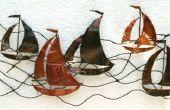 Art mural - bateaux à voile en métal