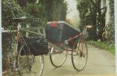 Alerte trafic vélo remorque fabriqué à partir d'un vélo ordure