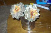 Comment faire des fleurs de la toile de jute