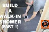 Comment construire une douche Walk-in (partie 1: receveur Wedi)