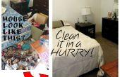 Nettoyage d'une maison de désordre (à la hâte!)